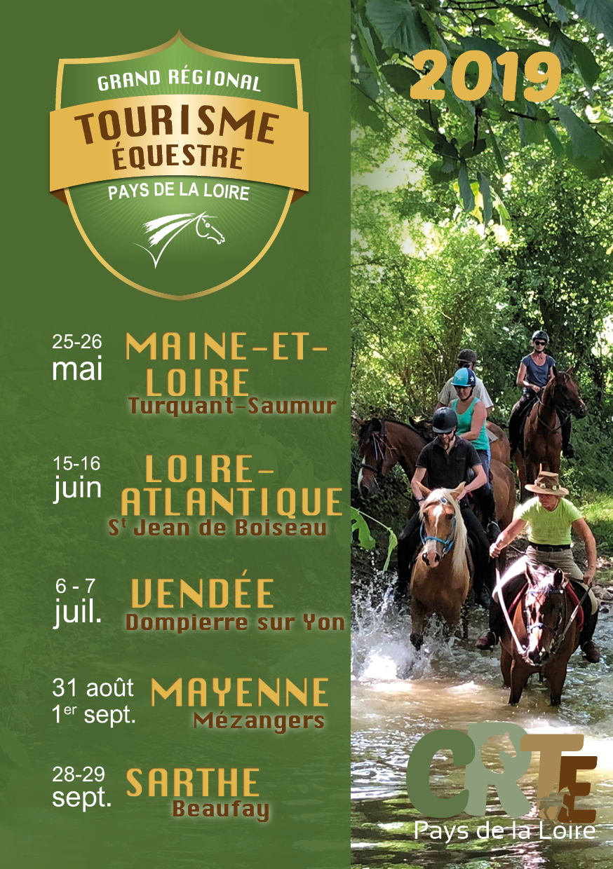 Grand Régional de Tourisme Équestre des Pays de la Loire …. Cinq weekend pour découvrir la région des Pays de la Loire