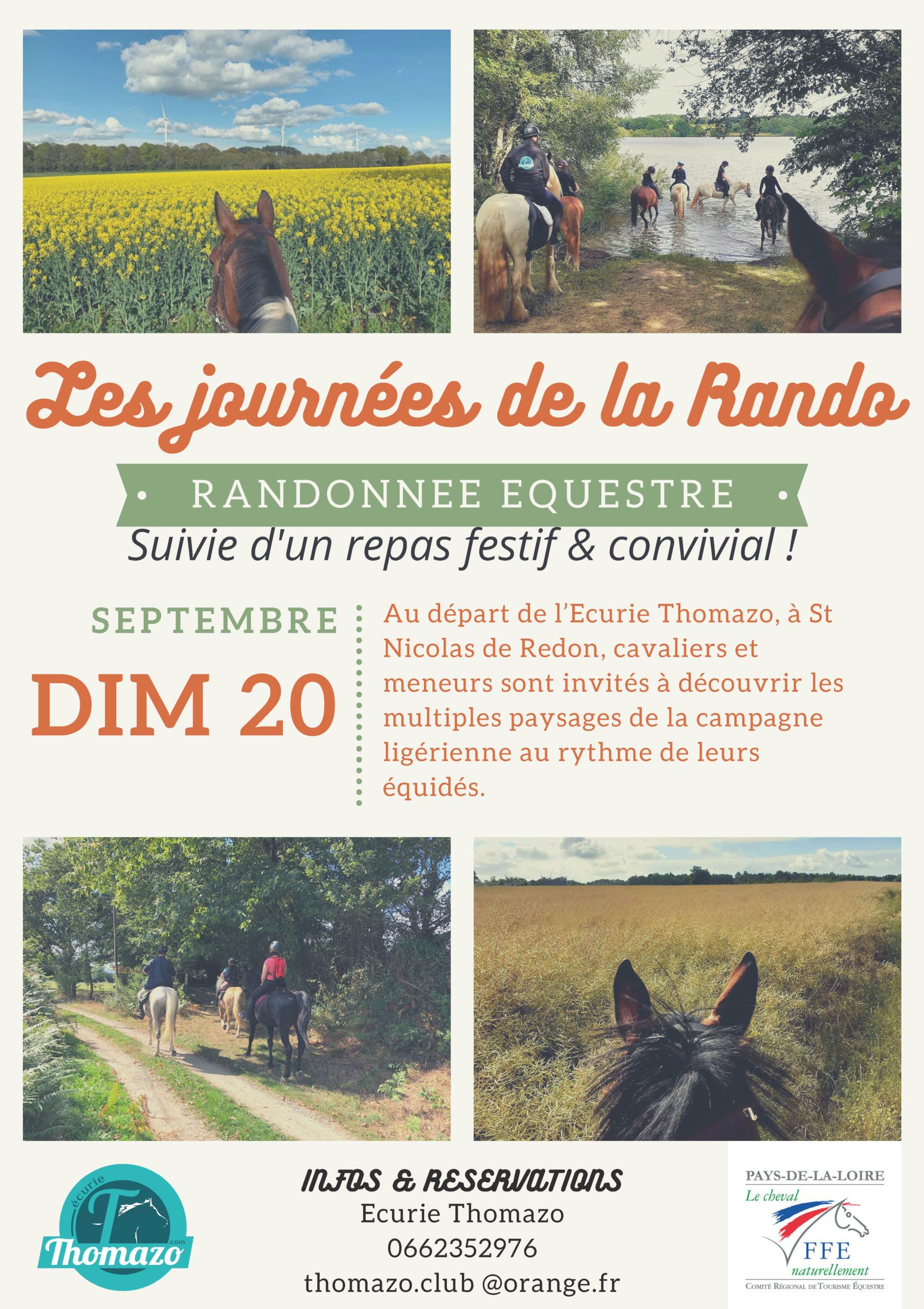 Les journées de la rando…Le 20 septembre en Loire Atlantique