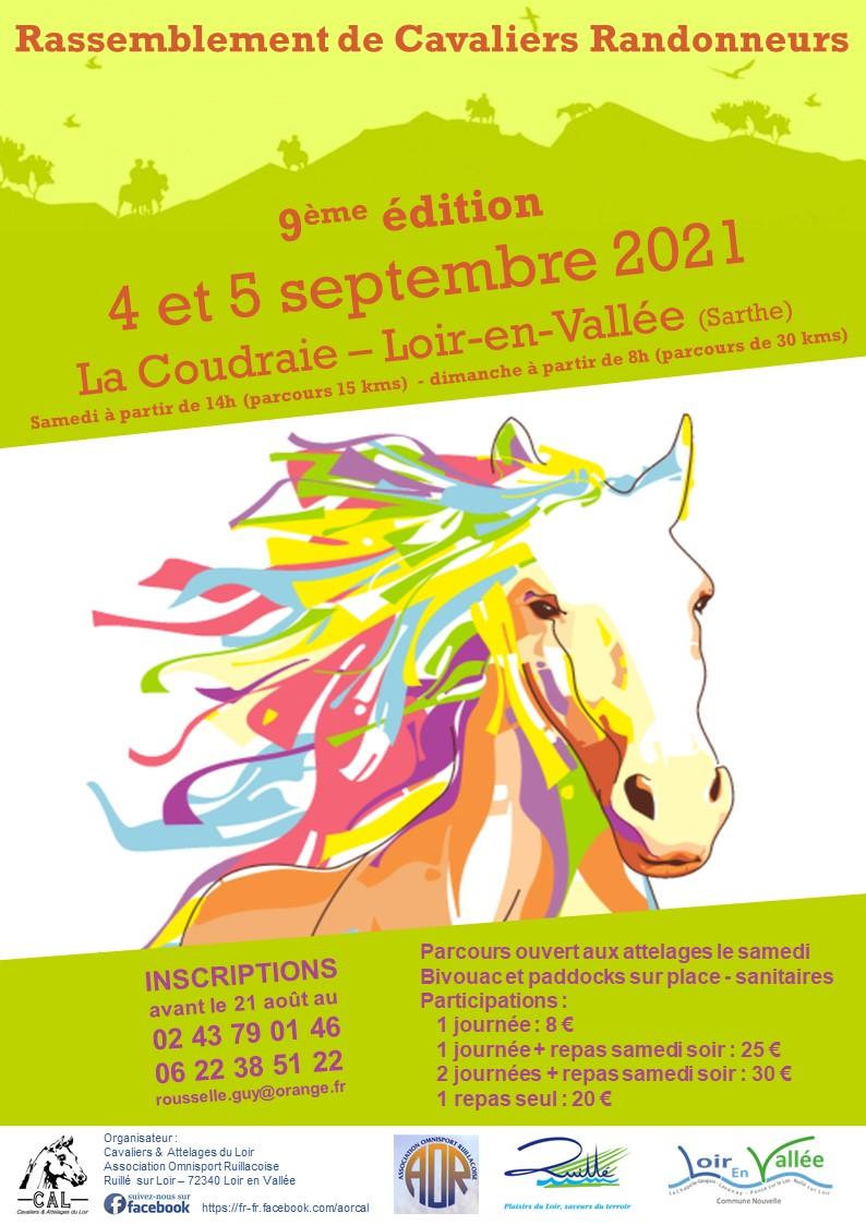"""Randonnez en Sarthe avec """"Cavaliers et attelages du Loir"""" les 4 et 5 septembre prochains"""